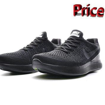 Sneaker paint Nike LunarEpic Low Flyknit 2 Men Trainers 2017 Triple Black shoes