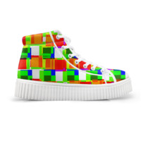 Color Zoom Bright Art Platform Shoes