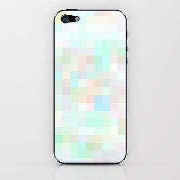 Re-Created Colored Squares No. 32 iPhone & iPod Skin by Robert Lee