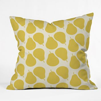 Allyson Johnson Pear Pattern Throw Pillow