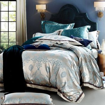 UNIHOMLuxury Embroidery  Bedding Set bedclothes bed linen/sheet set Queen/King Size Home textile