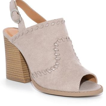Taupe Dayna Mule Sandals