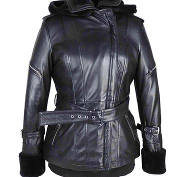 Emma Swan Once Upon a Time Black Leather Jacket