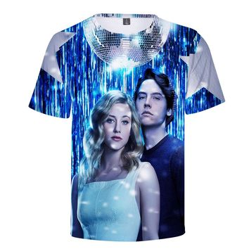 3D Printed Riverdale Boy T-shirts Funny Cool Hip Hop Hipster Tops Tees Casual New Fashion T Shirts Men Clothing Harajuku