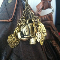 Golden Elephant Keychain