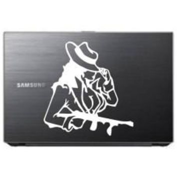 Lady with Gun Car Window Ipad Tableet PC Notebook Cumputer Decal Sticker