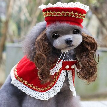 Pet Dog Clothes For Dogs Halloween Costume Dog Clothes Dress Up Pet Hat Dog Wig Products Chihuahua York Ropa Para Perros 8Z20