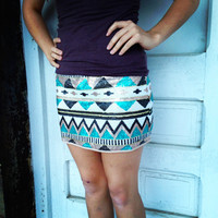 Shine Bright Sequin Aztec Skirt