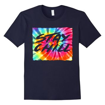 Tie Dye Stay Chill Shirt Peace Heart Love Rainbow Tee