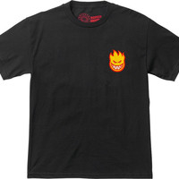 Spitfire Lil Bighead Tee Medium Black With yel/Red