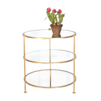 Tiered Gold Side Table