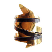 Art Smith Icicle Brass Cuff Bracelet