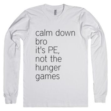 Calm Down-Unisex White T-Shirt