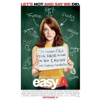 Easy A 27x40 Movie Poster (2010)
