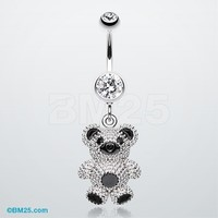 Adorable Teddy Bear Belly Button Ring