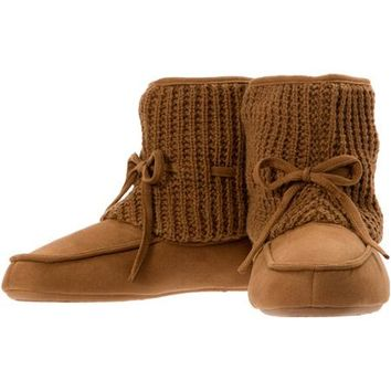Dearfoams Women's Sweater Knit Top Boot Slipper - Walmart.com