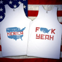 Merica, F Yeah BFF Tanks For 4th Of July