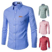 Men Stylish Plaid Classics Casual Shirt [10831835203]