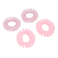 Blackheart Pink Spiral Hair Tie Set