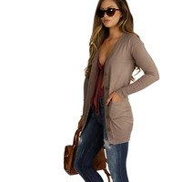 Brown Boyfriend Cardigan