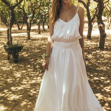 Peasant style wedding dress, Wedding dresses 2017, bohemian style wedding dress, 60's wedding dress, 2 parts wedding dress, Lilium flower