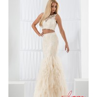 Preorder - Jasz Couture 5719 Champagne & Gold Lace Two Piece Mermaid Long Dress 2016 Prom Dresses
