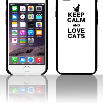 KEEP CALM LOVE CATS cats 5 5s 6 6plus phone cases