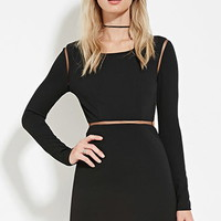 Cutout-Back Mini Dress