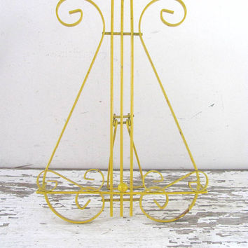 Vintage metal yellow musical Lyre book stand