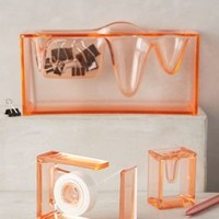 Aqueous Desk Collection by Anthropologie in Tangerine Size:
