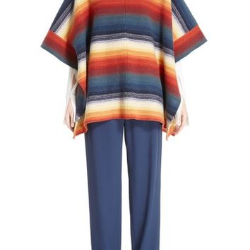 Chloé Stripe Felted Wool & Cashmere Poncho | Nordstrom