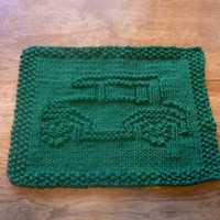 Hand Knit Antique Car Cloth | hollyknittercreations - Knitting on ArtFire