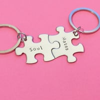Soul Mates Keychains for Couples, Couples Gift , Anniversary Gift