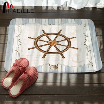 Autumn Fall welcome door mat doormat Miracille  Artistic Designer Vintage Helm Compass Boat Anchor Pattern Area Rugs for Home Hallway Stair Kitchen Carpet AT_76_7