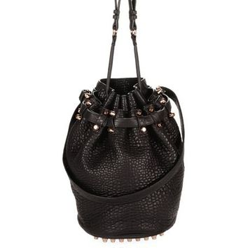 alexanderwang Official Online Store - DIEGO IN BLACK PEBBLE WITH ROSEGOLD