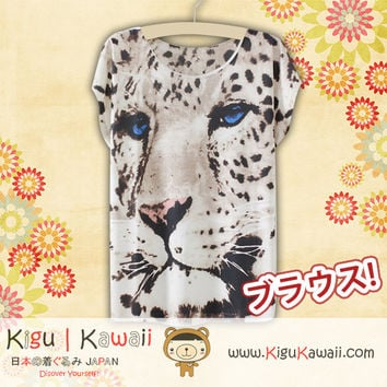 New Tiger Portrait Fashionable Loose and High Quality Spring and Summer Tshirt Free Size KK558