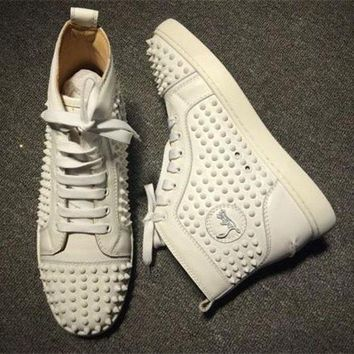 DCCK2 Cl Christian Louboutin Louis Spikes Style #1863 Sneakers Fashion Shoes