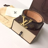 Louis Vuitton monogram belt 100% AUTHENTIC w/box,bag,receipt LV damier initiales