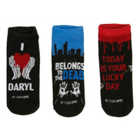 The Walking Dead Daryl No-Show Socks 3 Pair