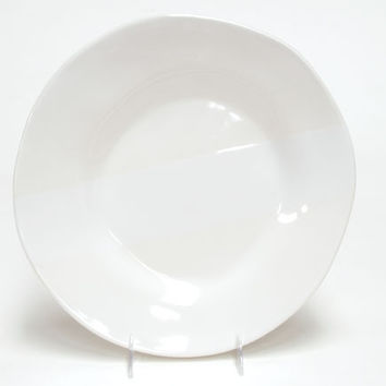 Oversize in White Round Dinner Ceramic Plate