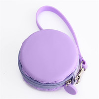 Pastel Macaron Coin Purse in Blue, Green, Pink, Purple
