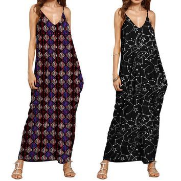 Summer Fashion Dresses clothes for pregnant women Print V Neck Sleeveless Maxi Long Dress women clothes Drop ship