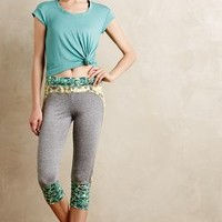 Sprout Cropped Joggers by Maaji Green Motif