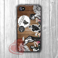 5SOS Wooden Logo - shin for iPhone 4/4S/5/5S/5C/6/6+,Samsung S3/S4/S5,Samsung Note 3/4