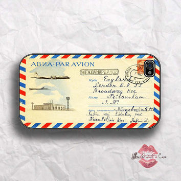 Vintage Airmail envelope - iPhone 4 Case, iPhone 4s Case and iPhone 5/5S/5C case