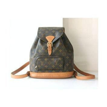 PEAPYD9 Louis Vuitton Backpack Monogram Montsouris Bag France MM Vintage Authentic Handbag