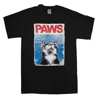 paws jaws parody For T-Shirt Unisex Adults size S-2XL
