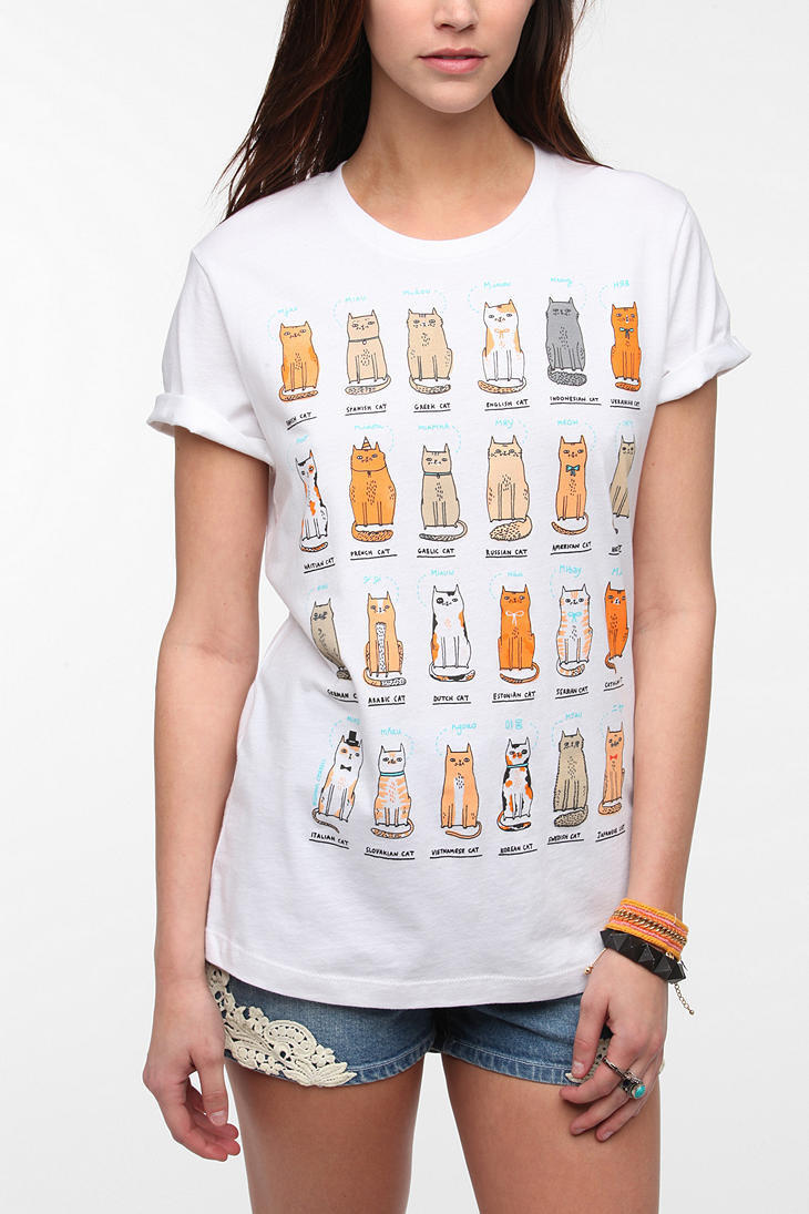 Urban outfitters gemma correll cats of from urban outfitters for Lucky cat shirt urban outfitters