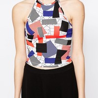 Monki Halter Neck Top