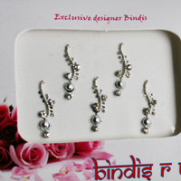 Forehead Bindis Jewel in Silver & Crystal Tone. A Quality Collection.
